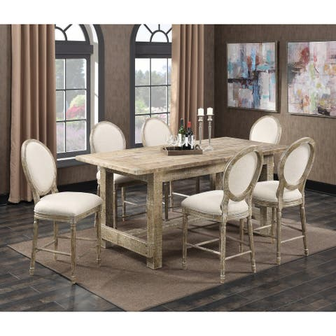 The Gray Barn Willow Way 5-Piece Rustic Casual Gathering Dining Room Set