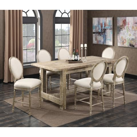 The Gray Barn Willow Way 7-Piece Rustic Casual Gathering Dining Room Set