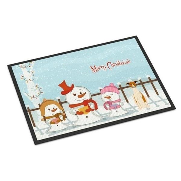 Carolines Treasures BB2430MAT Merry Christmas Carolers Whippet Indoor or Outdoor Mat 18 x 0.25 x 27 in.