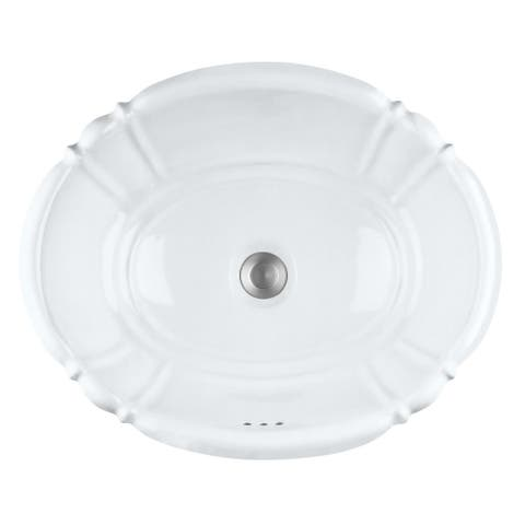 "PROFLO PF1125 17-1/4"" Self Rimming Bathroom Sink - White"