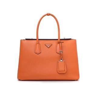 Prada Saffiano Leather Tote Handbag Papaya