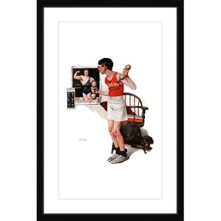 Marmont Hill Champ - Framed Print Norman Rockwell Painting Print in Frame