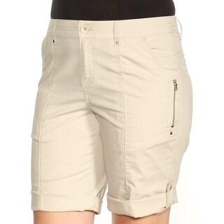 Womens Beige Casual Short Size 8