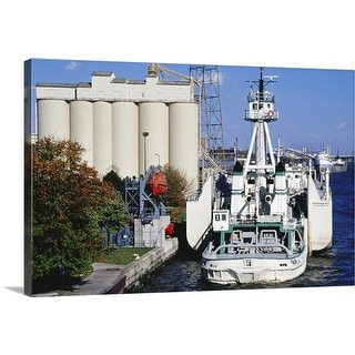 """""""Freighter at dock"""" Canvas Wall Art"""