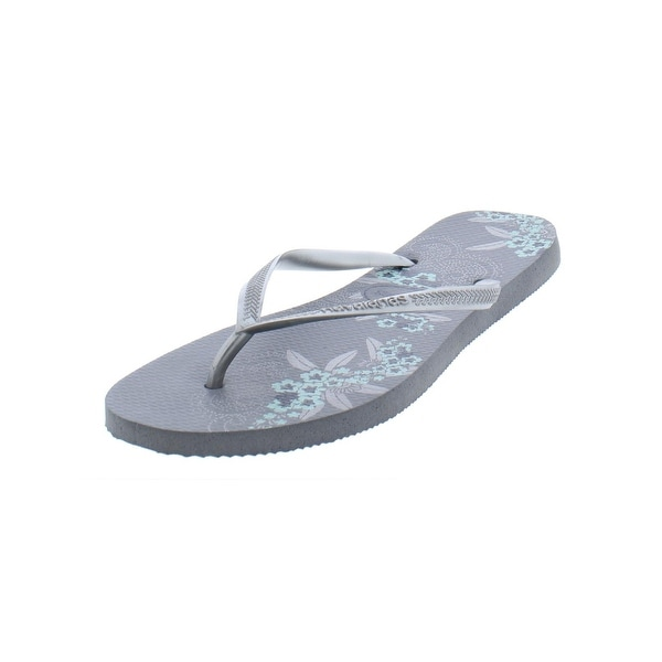 5b4a393c6 Shop Havaianas Womens Flat Sandals Thongs Floral - Free Shipping On ...