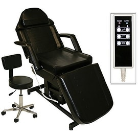 LCL Beauty Black Fully Electric Adjustable Facial Bed / Massage Table