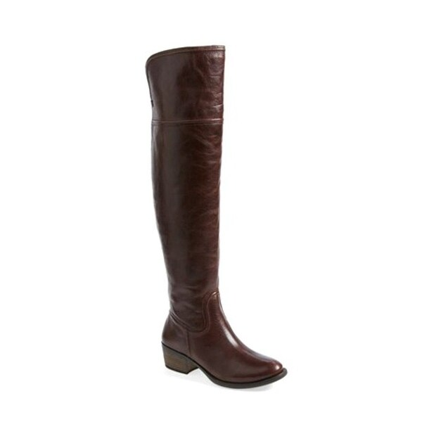 Vince Camuto Womens Baldwin Leather Almond Toe Knee High Fashion Boots