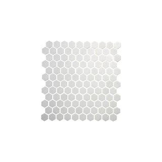 """Daltile UP1HEXMSP1S Uptown Glass - 1"""" x 1"""" Hexagon Mosaic Multi-Surface Tile - Smooth Glass Visual - N/A"""