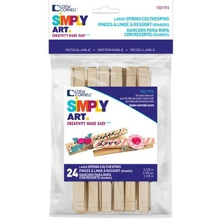 "Woodsies Large Spring Clothespins-Natural 3.375"" 24/Pkg"