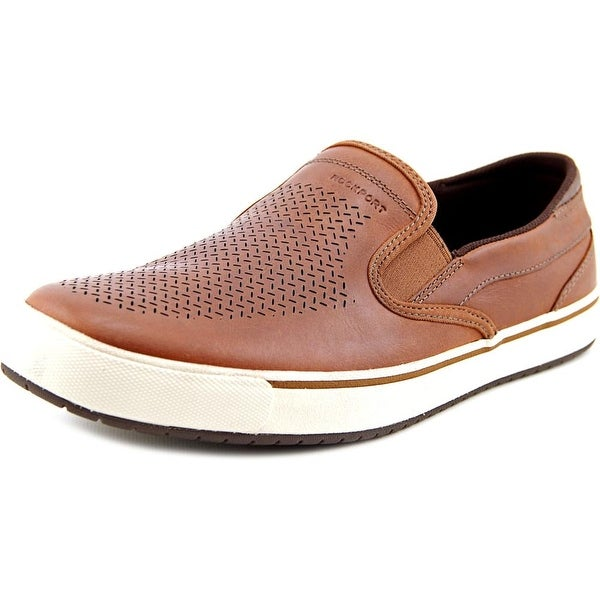 Rockport Path To Greatness Slip On Men Round Toe Suede Tan Loafer