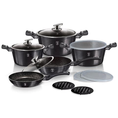 Berlinger Haus 13-Piece Kitchen Cookware Set, Carbon Pro Collection