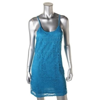 Love Fire Womens Juniors Sundress Lace Sleeveless
