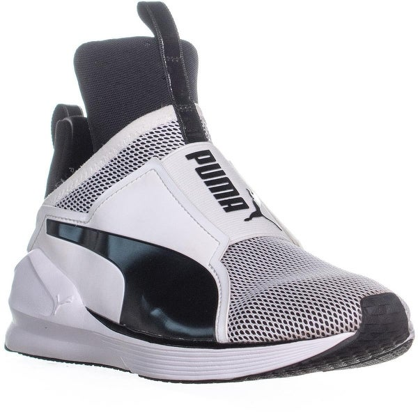 PUMA Fierce Core Slip On High Top Sneakers, WhiteBlack 6 us 36 eu
