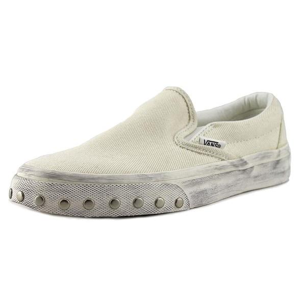 Vans Womens Blanc de Blanc Canvas Low Top Slip On Fashion Sneakers