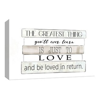 "PTM Images 9-148343  PTM Canvas Collection 8"" x 10"" - ""The Greatest Thing"" Giclee Love Art Print on Canvas"