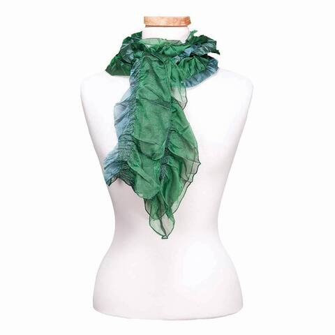 Tickled Pink Ruffled Sheer Scarf