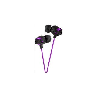 JVC HAFX101V JVC Xtreme Xplosives HA-FX101 Earphone - Stereo - Violet - Wired - 16 Ohm - 5 Hz 20 kHz - Gold Plated - Earbud -
