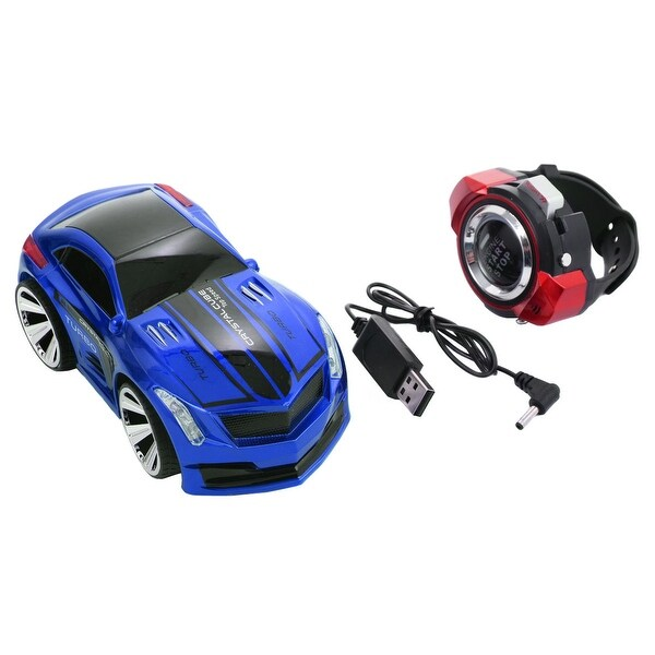 shop costway smart watch remote control rc racing voice command car blue free shipping on. Black Bedroom Furniture Sets. Home Design Ideas