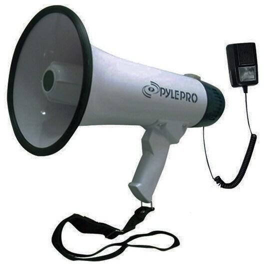 Pyle Pro Professional Dynamic Megaphone with recording detachable microphone