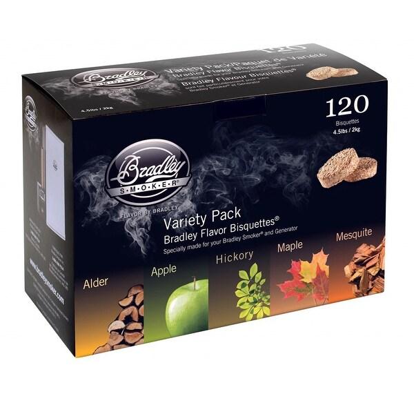Bradley Smokerss Bisquettes, 5 Flavor Variety, 120-Pack