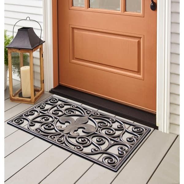 First Impression Rubber Grill Fleur De Lis Doormat 18 X 30 18 X30 On Sale Overstock 9552265