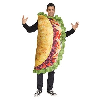 Adult Taco Food Costume size Standard - standard - one size