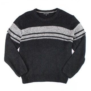 Tricots St. Raphael NEW Gray Mens Size Large L Striped Crewneck Sweater
