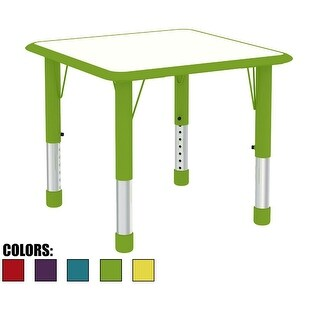 2xhome Adjustable Height Kids Table For Toddler Child Children Preschool Daycare School Wood Activity Kid Chrome Home Green