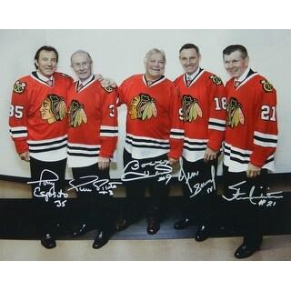 Hull, Esposito, Mikita, Pilote & Savard Signed Blackhawks Legends 16x20 Photo
