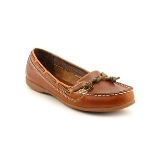 Sebago Felucca Lace Women Moc Toe Leather Boat Shoe