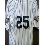 Signed Teixeira Mark New York Yankees Authentic New York Yankees Jersey with the 2009 stadium and w