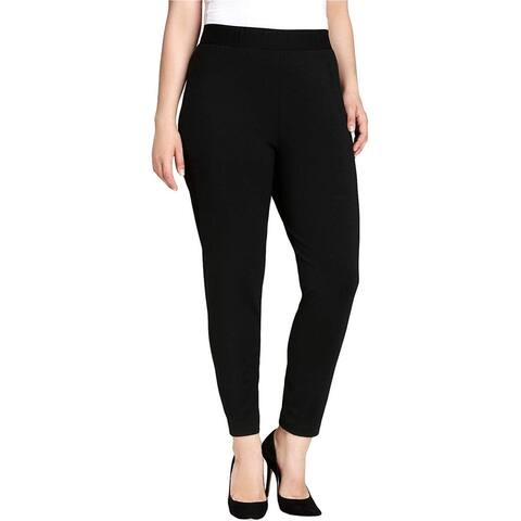 Vince Camuto Womens Solid Casual Leggings, Black, 2X