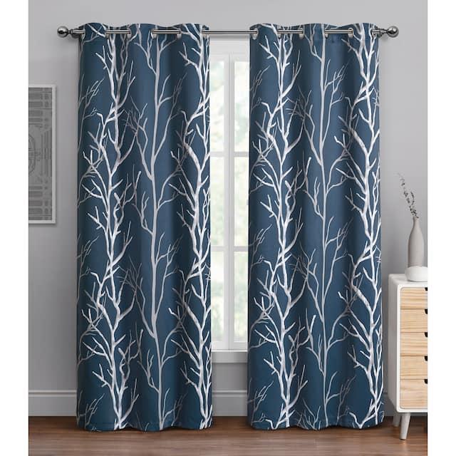 "VCNY Home Kingdom Branch Blackout Curtain Panel - 42"" x 84"" - Blue"
