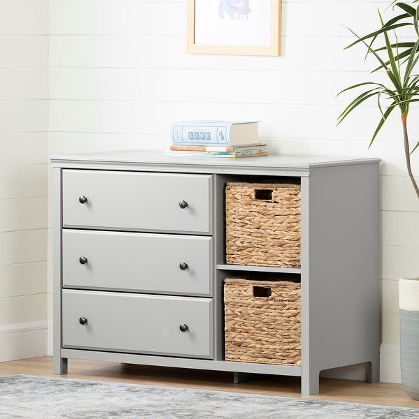 South Shore Cotton Candy 3-drawer Dresser with 2 Baskets. Opens flyout.