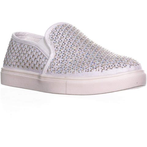 Material Girl Womens Meidyth Low Top Pull On Fashion Sneakers - 7.5
