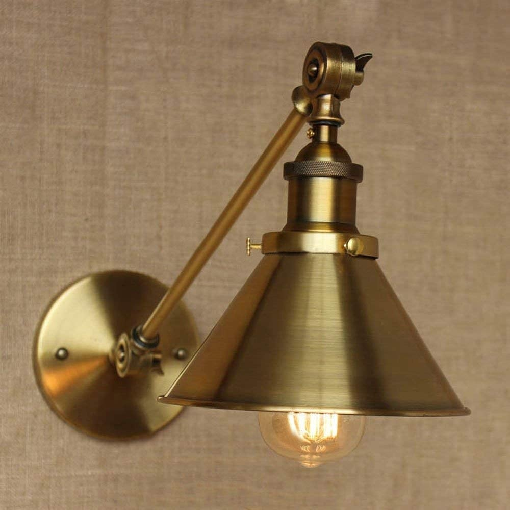 Divito 1 Light Armed Sconce With Brass Finish Overstock 24228654