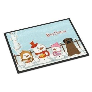 Carolines Treasures BB2415JMAT Merry Christmas Carolers Bullmastiff Indoor or Outdoor Mat 24 x 0.25 x 36 in.