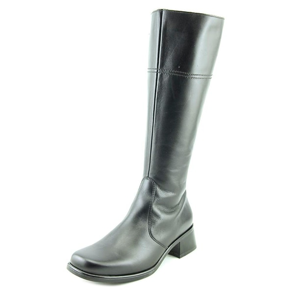 La Canadienne LAREN Women Round Toe Leather Black Knee High Boot