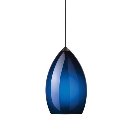 tech lighting 700fjfirfb freejack firefrost cobalt murano glass pendant 12v ha