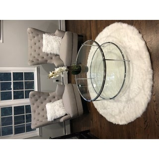Silver Orchid Rita Faux Flokati Sheepskin Solid Soft and Plush Cloud Shag Area Rug