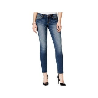 Dittos Womens Juniors Selena Ankle Jeans Distressed Skinny