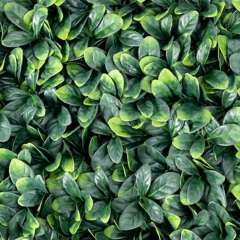 Gymax 12PCS 20x20inch Artificial Ficus Hedge Plant Privacy Fence Hedge
