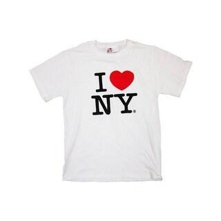 I Love NY New York Short Sleeve Screen Print Heart T-Shirt White Xl