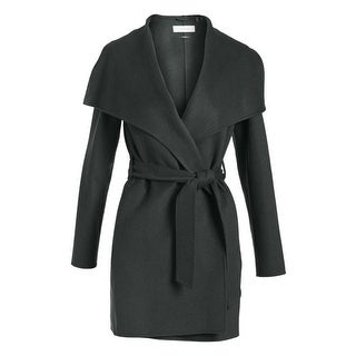 T Tahari Forest Green Wool Wrao Coat