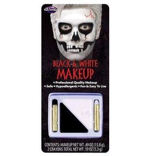 "Fun World 9459C Halloween Make-up Kit, Black & White - 8.5"" h x 3.88"" w x 3.88"" l"