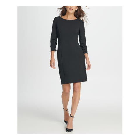 DKNY Green 3/4 Sleeve Above The Knee Dress 14