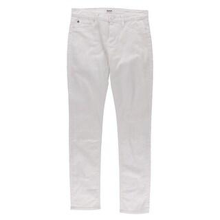 Hudson Womens Shine Denim Mid-Rise Skinny Jeans - 26