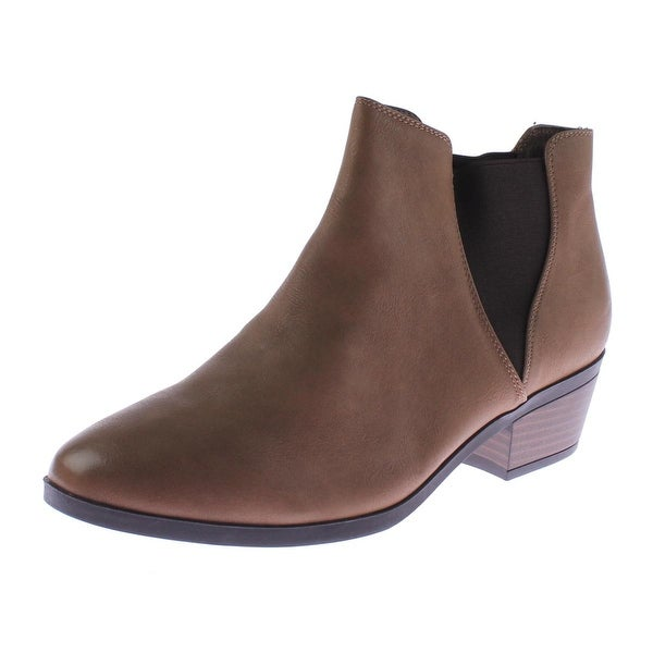 Call It Spring Womens Moillan Ankle Boots Faux Leather Contrast Trim