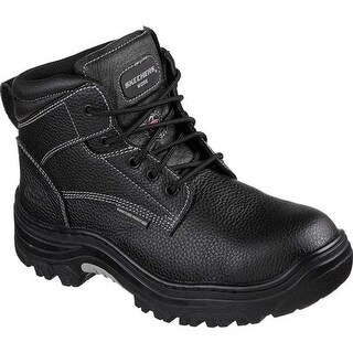 Skechers Men's Work Burgin Tarlac Steel Toe Boot Black