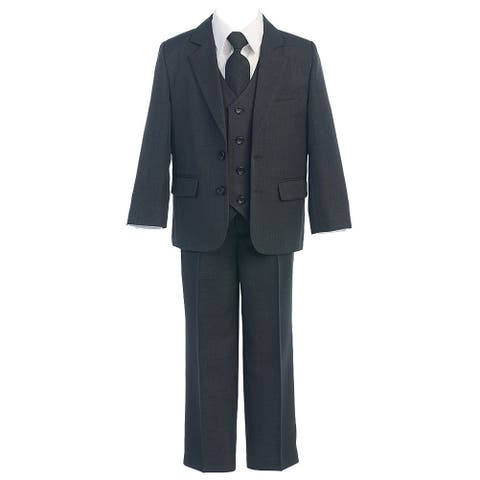 Sweet Kids Charcoal 5pc Easter Special Occasion Formal Suit Boys 4-20